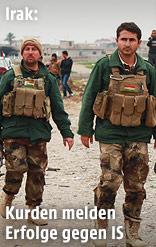 Kurdische Kämpfer im Irak