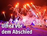 Feuerwerk im schwedischen Umea