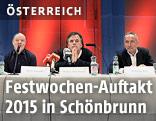 """Pressekonferenz zu den """"Wiener Festwochen 2015"""""""