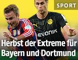 Mario Götze (Bayern) und Sebastian Kehl (Dortmund)