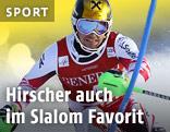 Marcel Hirscher beim Slalom auf der Piste