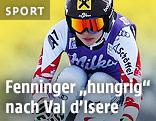 Anna Fenninger auf der Abfahrtsstrecke von Val d'Isere