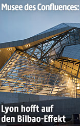 Außenansicht des Musee des Confluences in Lyon