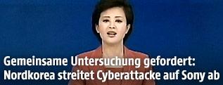 Nachrichtensprecherin im nordkoreanischen TV