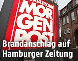 "Schild ""Hamburger Morgenpost"""