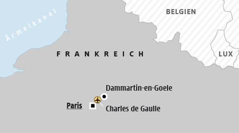 Karte von Nordfrankreich