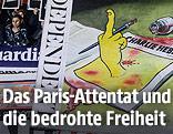 """Cover sämtlicher europäischer Zeitungen, darunter auch die Ausgabe des """"Independent"""""""