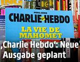 """""""Charlie Hebdo""""-Ausgabe bei einem Zeitungsstand"""