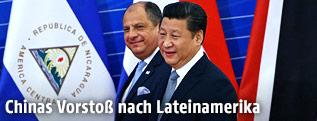 Chinas Staats- und Parteichef Xi Jinping gemeinsam mit Luis Guillermo Solis, Präsident von Costa Rica