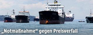 Öltanker auf dem Meer