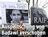 Demonstranten solidarisieren sich mit Raif Badawi