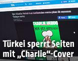 """Türkisches Internetportal T24 zeigt das Cover von """"Charlie Hebdo"""" mit Mohammed-Karrikatur"""