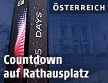 Countdown-Turm für den Song Contest am Rathausplatz