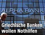 Eingang einer Alpha Bank