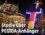 PEGIDA Anhänger in Dresden