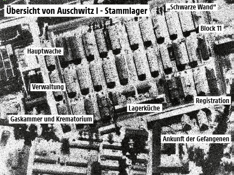 Karte vom Konzentrationslager Auschwitz