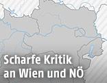 Karte von NÖ und Wien