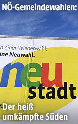 Wahlplakate in Niederösterreich