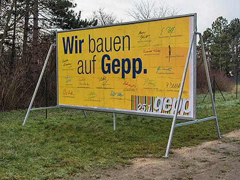 Plakat zur NÖ-Gemeinderatswahl