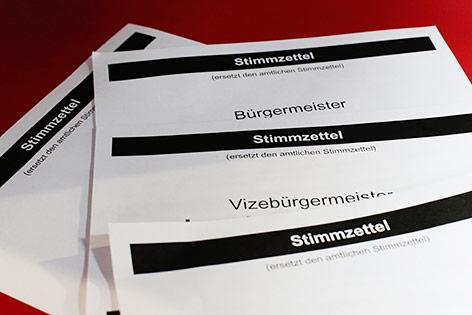 Vorgedruckte Stimmzettel