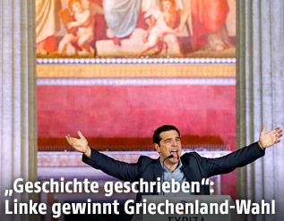 Griechischer SYRIZA-Parteichef Alexis Tsipras