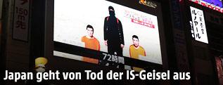 Öffentlicher Bildschirm zeigt Islamistenvideo