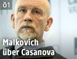 John Malkovich bei der Pressekonferenz in Wien