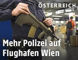 Polizist am Flughafen