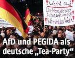 Anhänger der PEGIDA-Bewegung bei einer Demonstration