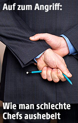 Mitarbeiter zerbricht Stift
