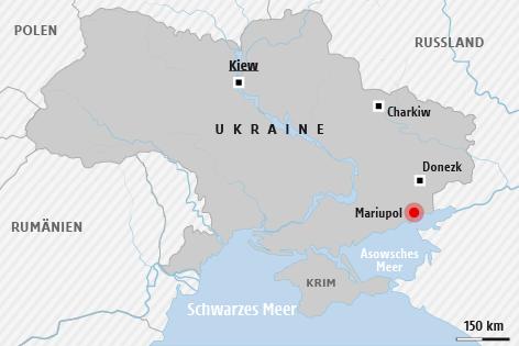 Grafik zur Landkarte der Ukraine