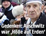 Überlebender in Auschwitz