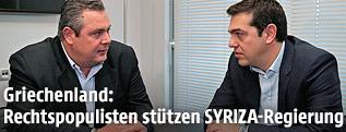 Panos Kammenos (ANEL) und Alexis Tsipras (SYRIZA)
