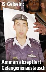 Fotos vom jordanischen Piloten Leutnant Muath al-Kasasba