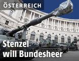 Panzer am Heldenplatz in Wien