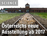 Schienen vor dem ehemaligen Konzentrationslager Auschwitz