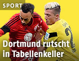 Karim Bellarabi (Leverkusen) und Kevin Kampl (Dortmund)