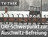 Ein Wachturm im ehemaligen KZ Auschwitz-Birkenau