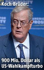 US-Unternehmer und Milliardär David Koch