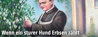 Zeichnung von Gregor Mendel