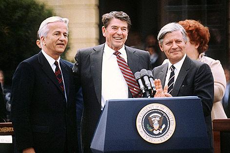 Richard von Weizsäcker mit US-Präsident Ronald Reagan