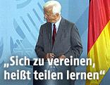 Richard von Weizsäcker bei einer Rede