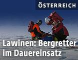 Einsatzkräfte der Bergrettung