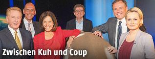 Günther Ziesel, Peter Filzmaier, Ingrid Thurnher, Wolfgang Wagner, Armin Wolf, Lou Lorenz-Dittlbacher