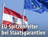 Österreich und EU Flagge