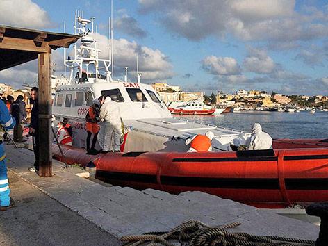 Küstenwache auf Lampedusa