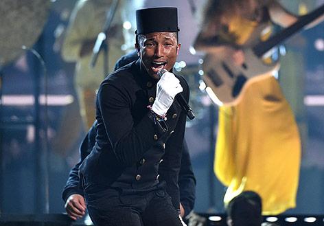 Pharrell Williams tritt bei den Grammy Awards auf
