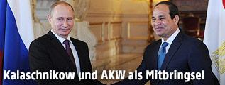 Russischer Präsident Vladimir Putin und der ägyptische Präsident Abdel Fattah al-Sisi