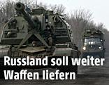 Panzer und Transporter in der Ostukraine