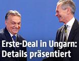 Ungarns Ministerpräsident Viktor Orban und Erste Group Bank AG-Vorstandsvorsitzender Andreas Treichl